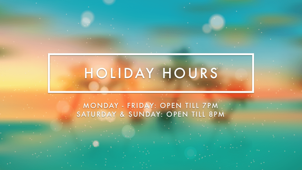 Digital Signage Holiday Background - Holiday Hours