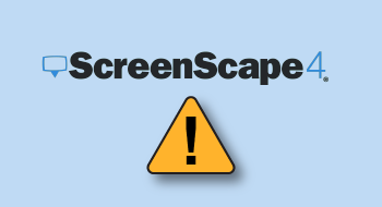 ScreenScape4 Logo with Attention Triangle