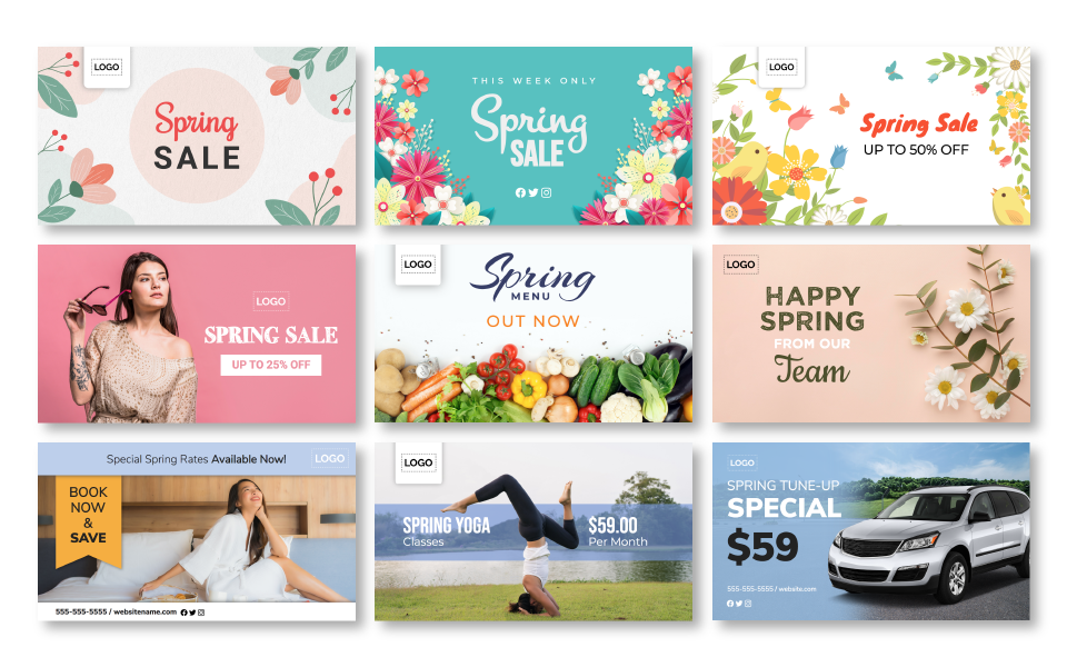 The Spring Template Collection released by ScreenScape digital signage
